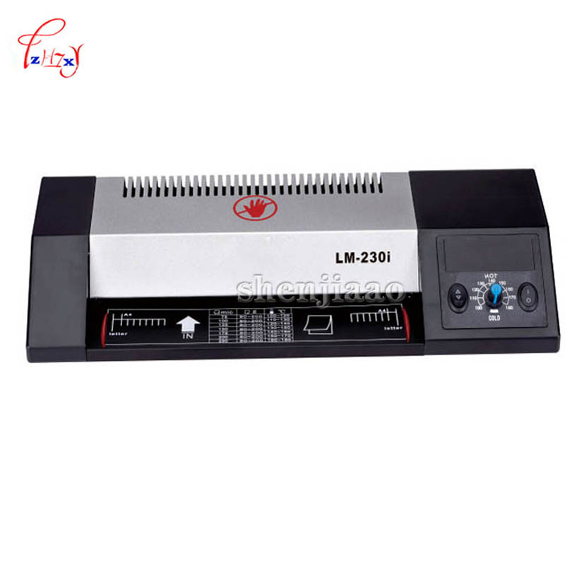 Buy LM-230i 220V Carbon Steel Thermal Steel Hot and Cold roll Machine Roller Photo Paper Bag, 4 Roller System for only 65 USD