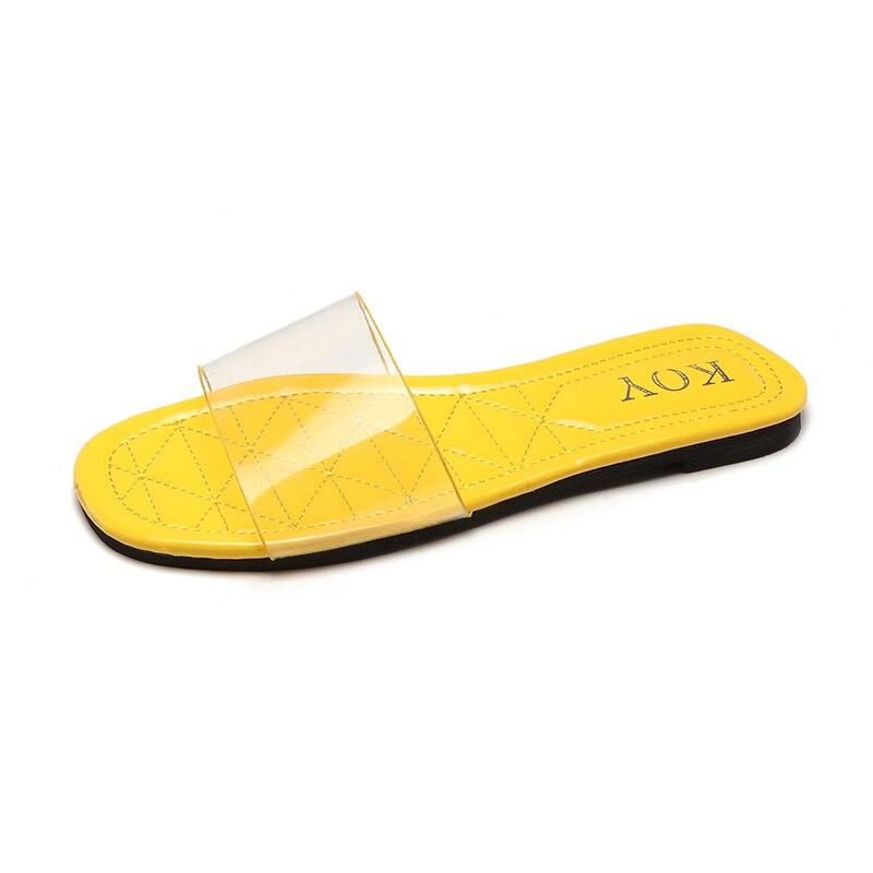 Moxxy 2018 Women Slides Summer Open Toe Transparent Women Slippers Sexy Summer Flop Flips Female Slippers Outside