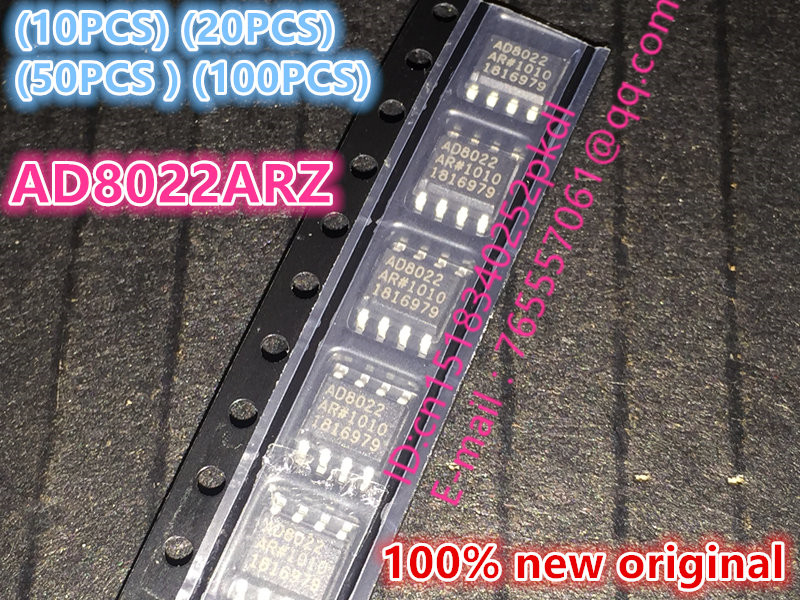 (10PCS) (20PCS) (50PCS) (100PCS) 100%New original AD8022ARZ-REEL7 AD8022ARZ SOP8 high speed operational amplifier chip 100pcs lot ua741cp ua741 dip8 operational amplifier chip