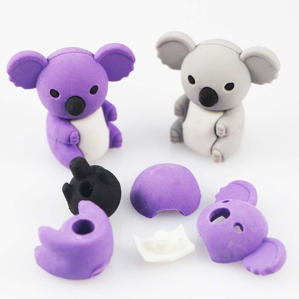 Creative Cartoon Cute Koala Animal Rubber Eraser/ Stationery For Children Students/gift Toy Eraser