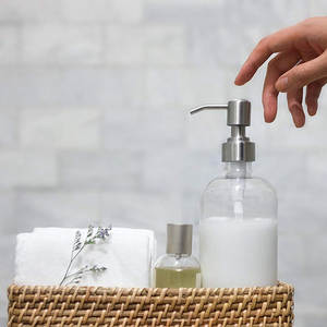 Soap Pump Stainless Steel Lotion Dispensers Pump Replacement for Bathroom Home Store