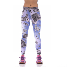 NEW KYK1040 Sexy Girl Women Dollar 3D Prints High Waist Running Fitness Sport Leggings Jogger Yoga Pants