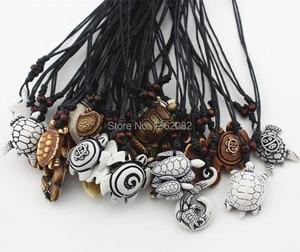 Image 4 - Смешанные ювелирные изделия, оптовая продажа, лот 25 шт., искусственная резная подвеска на удачу с морскими черепашками и серфингом, ожерелье MN386