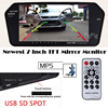 2017 Latest High Resolution HD 1024 600 7 TFT LCD Car Rear View Mirror Monitor Bluetooth
