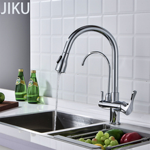 Kitchen Sink Faucet Pull Type 360 Degrees Faucet Hot And Cold Household Pure Water  Straight Drink sink Basin Faucet Bathroom copper hot and cold pull out type kitchen faucet rotating retractable belt shower vegetables basin sink brushed