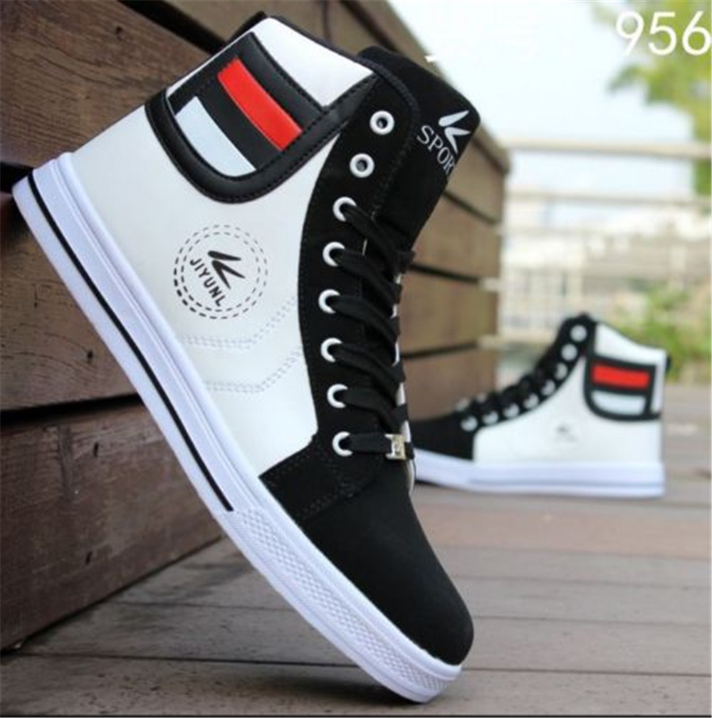 2015 Mens Sneakers Shoes Brand High Top Canvas Shoes In Size EU39 ...