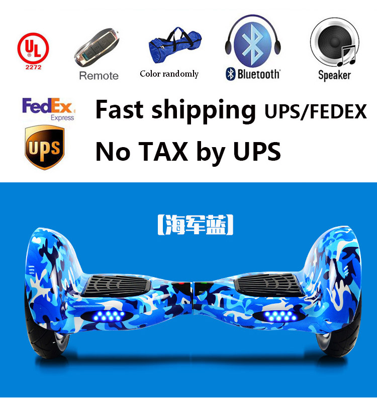Electric Scooters 10 Inch Bluetooth LED Scooter Battery Self Balancing Smart Balance Hoverboard Hoverkart kart HoverSeat