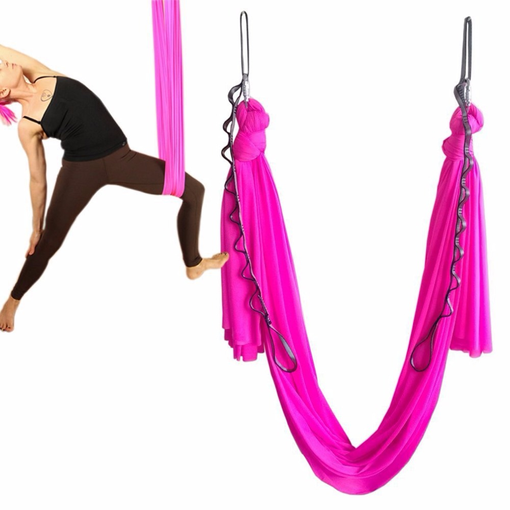 3 meter 1 set Yoga Flying Swing Anti-Gravity yoga hammock fabric Aerial Traction Device Yoga hammock Equipment for body shaping fitness yoga hammock yoga swing anti gravity aerial straps high strength fabric decompression hammock mix color with 6 grip hand