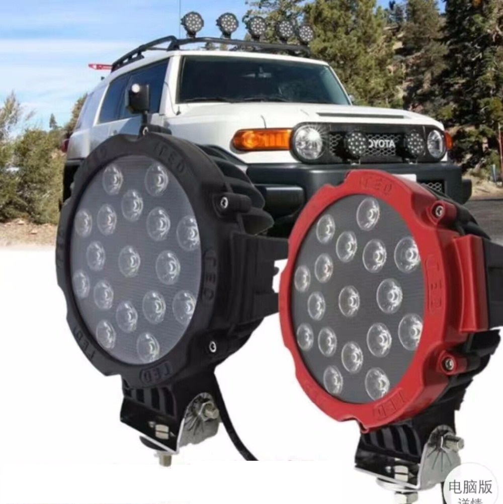 1 piece 6.3 inch 51W Car Round LED Work Light 12V High Power Spot Light For 4x4 Offroad Truck Tractor ATV SUV Driving