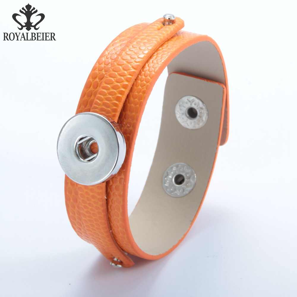 1 предмет из искусственной кожи браслет ювелирные изделия 18 мм браслет с защелкой для 18 мм DIY Украшение с защелкой Красочные Кожа Обёрточная Бумага браслет