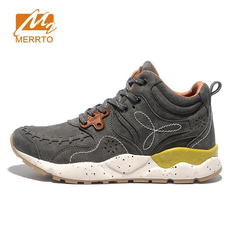 MERRTO Men's Winter & Fall Leather Outdoor Hiking Trekking Boots Shoes Sneakers For Men Sport Climbing Mountain Boots Shoes Man merrto mens summer sports outdoor trekking hiking sneakers shoes for men sport climbing mountain shoes man senderismo