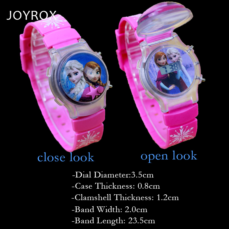 JOYROX LED Silikon Barn Klocka Clamshell Jelly Digital Armbandsur Hot - Barnklockor - Foto 2