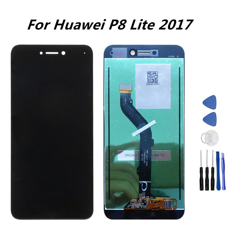 For Huawei P8 Lite 2017 LCD Display Touch Screen Digitizer Assembly With Frame Replacement For Huawei