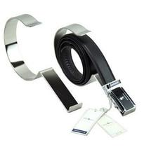 Mirror silvery Metal Belt Holder Stand Belt Display Rack Belt Rack belt holder rack
