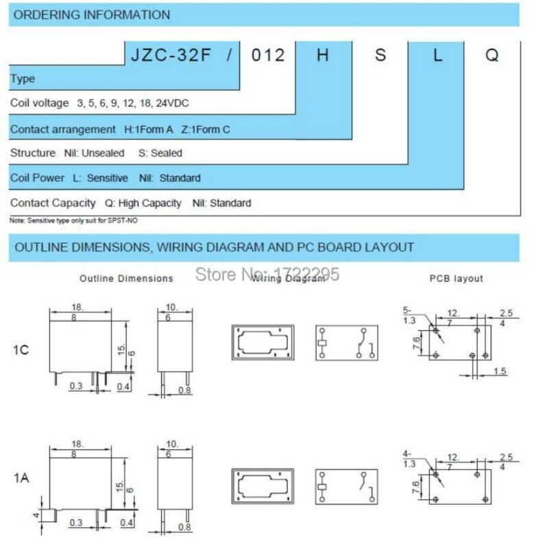 4-Бесплатная доставка 100 шт. HF32F-9V-ZS3 5 футов JZC-32F-009-ZS3 9 В 5A 250VAC/30VDC миниатюрное реле промежуточной мощности смотреть на Алиэкспресс Иркутск в рублях