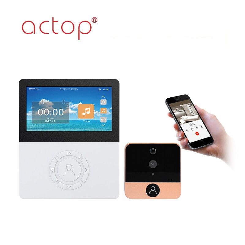 4.5 Inch WIFI Video Door Phone With Indoor Monitor ...