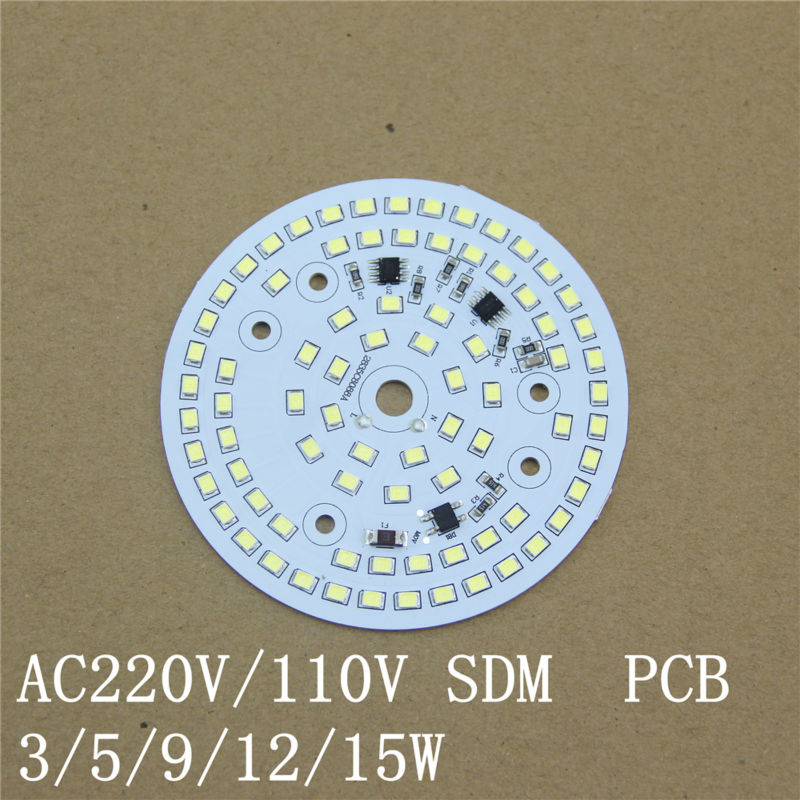 Free shipping 10PCS/Lot AC220V LED Module 15W IC Integrated Driverless Led PCB free shipping t65550 t65550b qfp 10pcs lot ic