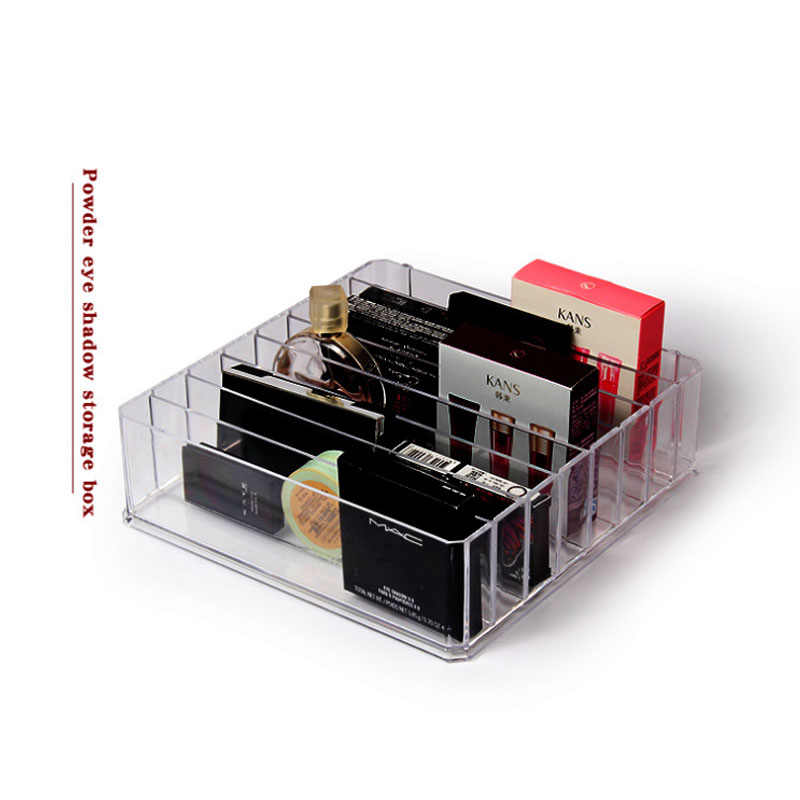 Oversized Clear Acrylic Makeup Organizer Cosmetic Storage Shadow Lipstick Holder Makeup Powder Organizer Jewelry Cosmetic Box