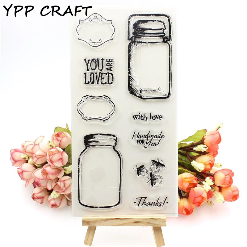 YPP CRAFT Bottle Transparent Clear Silicone Stamps for DIY Scrapbooking/Card Making/Kids Fun Decoration Supplies mini portable 5w usb led light bulb 360 degree energy saving outdoor emergency lamp pc laptop computer power bank reading bulb