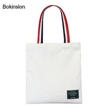 1367558991 Bokinslon hombro bolsas de mujer Simple lona Bolsos De Mujer bolsos arte pequeño  mujer de gran capacidad bolsas