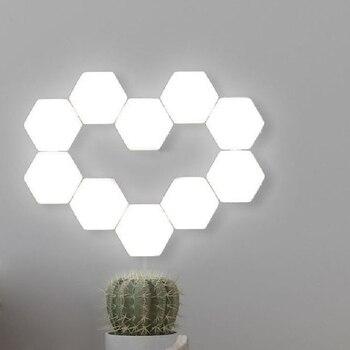 10pcs/set Touch Sensitive Modular Light Magnetic Creative LED Night Light Novelty Hexagonal Light Decoration Lamp DIY Panel Lamp