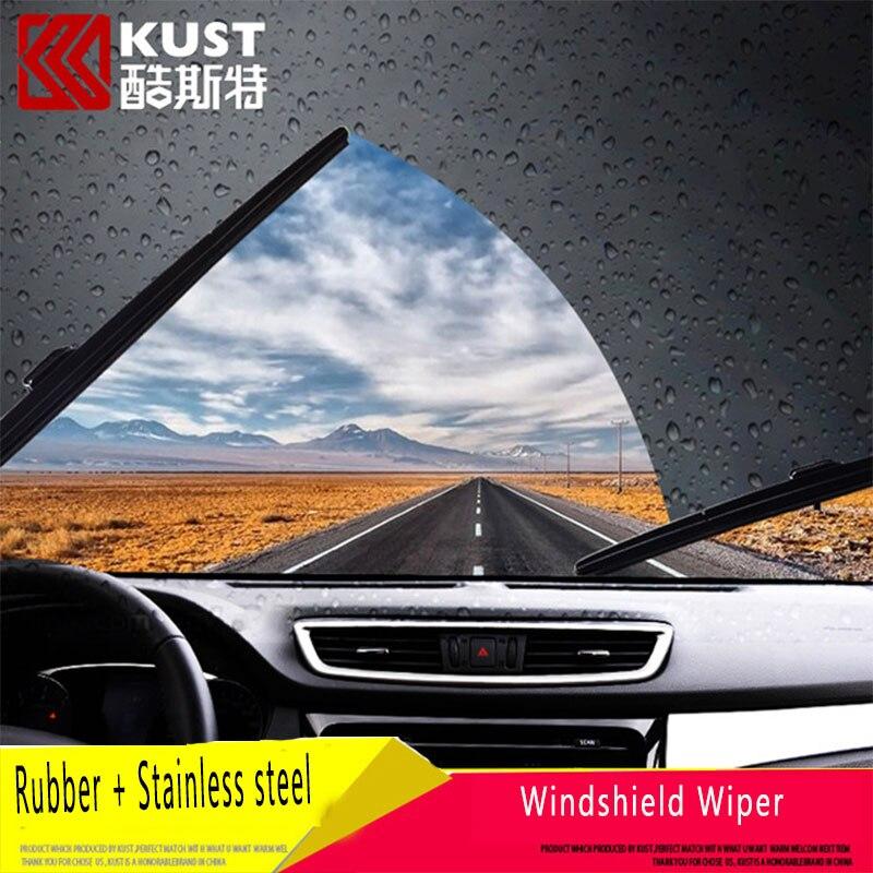 KUST 2PCS OF Rain Water Windshield Wiper For X trail 2014 2015 2016 font b Exterior