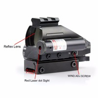 VERY100 Holographic 4 Reticles Red/Green Reflex Scope With Laser Sight Combo 20mm Rail New