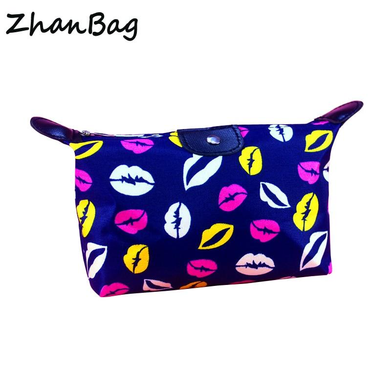 ZhanBag Travel Nylon Waterproof Cosmetic Bag Multifunctional Storage Bag Beautician Cosmetic Case Organizer Cosmetic Bag multifunction nylon pet storage bag cosmetic bag pink grey