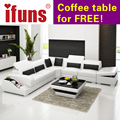 IFUNS l shape storage modern design genuine italian leather sectional sofa corner real italian chesterfield home furniture (fr)