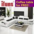 Ifuns l forma de armazenamento design moderno sofá secional sofá de canto de couro italiano genuíno real italiana chesterfield móveis para casa (fr)