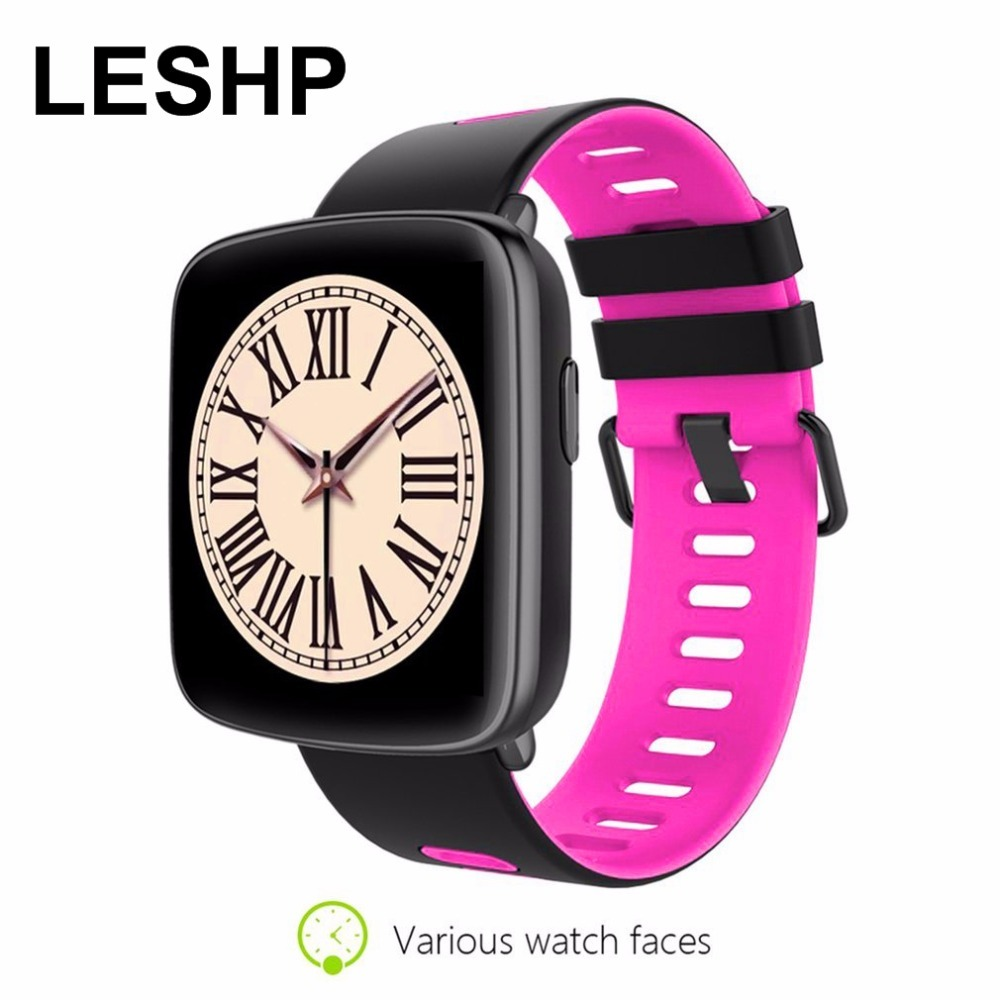 LESHP GV68 Heart Rate Monitor Smart Watch Ip68 Waterproof sport Smartwatch for IOS Android Phone pk kw88 k88h dz09 q90 free shipping smart watch c7 smartwatch 1 22 waterproof ip67 wristwatch bluetooth 4 0 siri gsm heart rate monitor ios