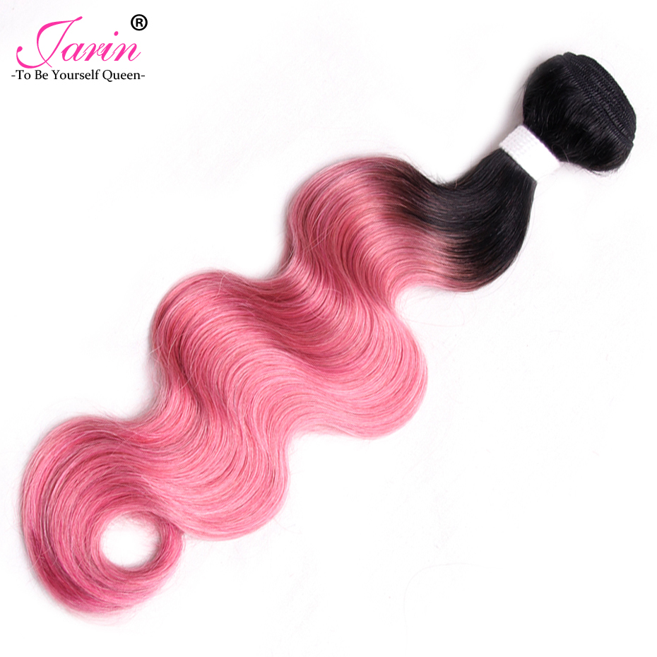 Jarin Brazilian Body Wave 100% Human Hair Weave 100g/pc Ombre 1B Pink Two Tone non Remy Buy 4 or more Free Shipping UPS/DHL ...