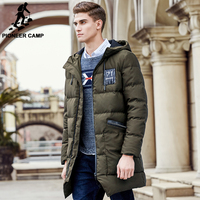 Pioneer Camp Long Thicken Winter Down Jacket Men Brand Clothing Warm Duck Down Coat Male Top