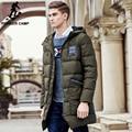 Pioneer camp longo engrossar inverno para baixo homens jaqueta de marca de roupas pato quente para baixo casaco masculino top qualidade homens para baixo parkas 625001