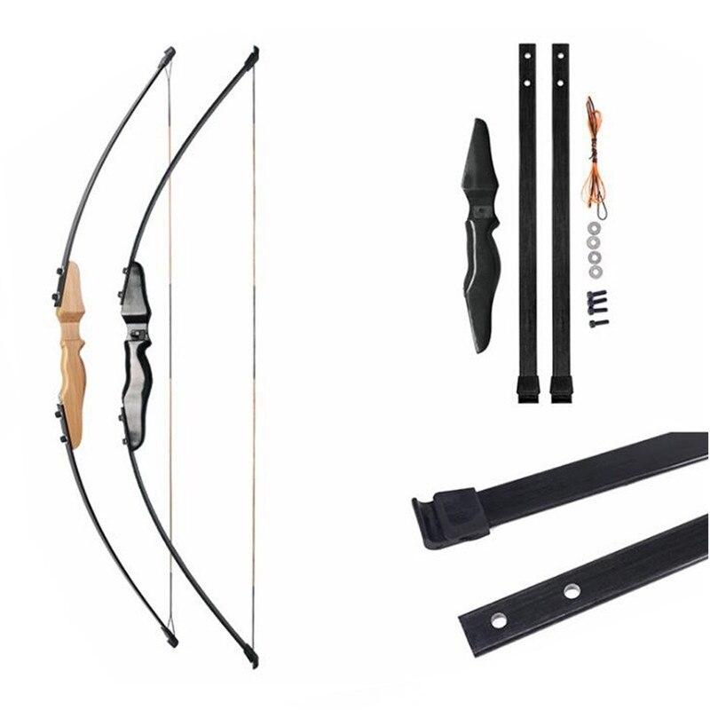 51 pouces 30Lbs tir à l'arc droit chasse arc classique en fibre de verre membres entrée arc