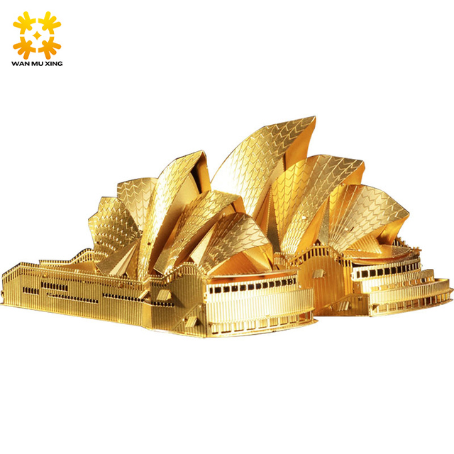 WMX 3D Metal Puzzle DIY Big Ben etc World's Landmark Famous Building Model Toys Jigsaws Best Educational Gift Gold Silver