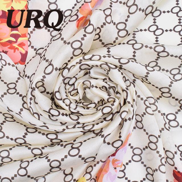 2016 Fashion Silk Scarf Women Print foulard Spring Scarves Brand Bandana High Quality Long Shawl Cape Luxury Foulard shawl cape