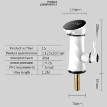 Tankless Instantaneous Water Heater Instant Electric Faucet Water Heater Tap Instant Hot Water Faucet Heater Cold Heating Faucet abs led digital display faucet instant heating electric water heater tap high temperature resistant faucet deck mounted faucet