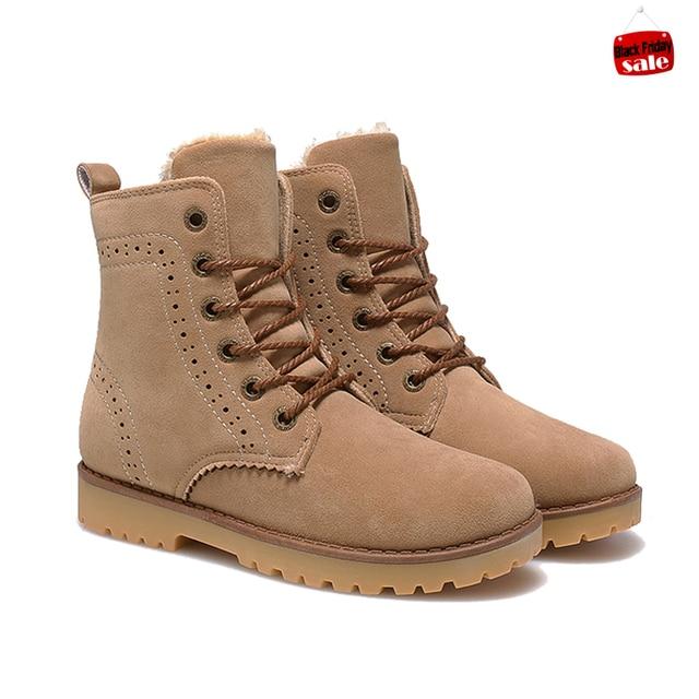 43e863481b2e6 2015 fashion winter shoes women's winter suede boots for men ladies women  ankle snow boots