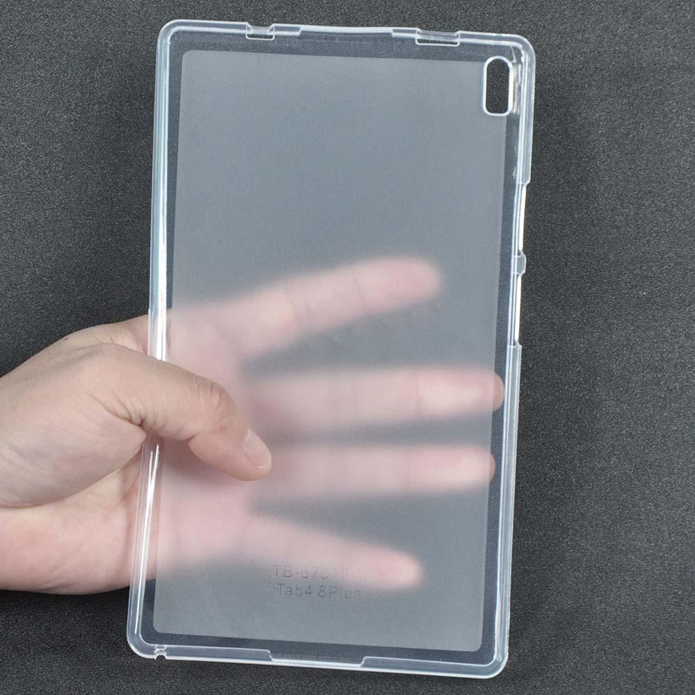 For Lenovo TAB4 8 Plus Back Case Soft TPU Cover Case for Lenovo TAB 4 8 Plus TB-8704N TB-8704F 8inch Tablet Case + Stylus Pen tab 4 8 plus tb 8704x flip leather case smart cover for lenovo tab4 8 plus tb 8704f tb 8704n tablet case protect shell