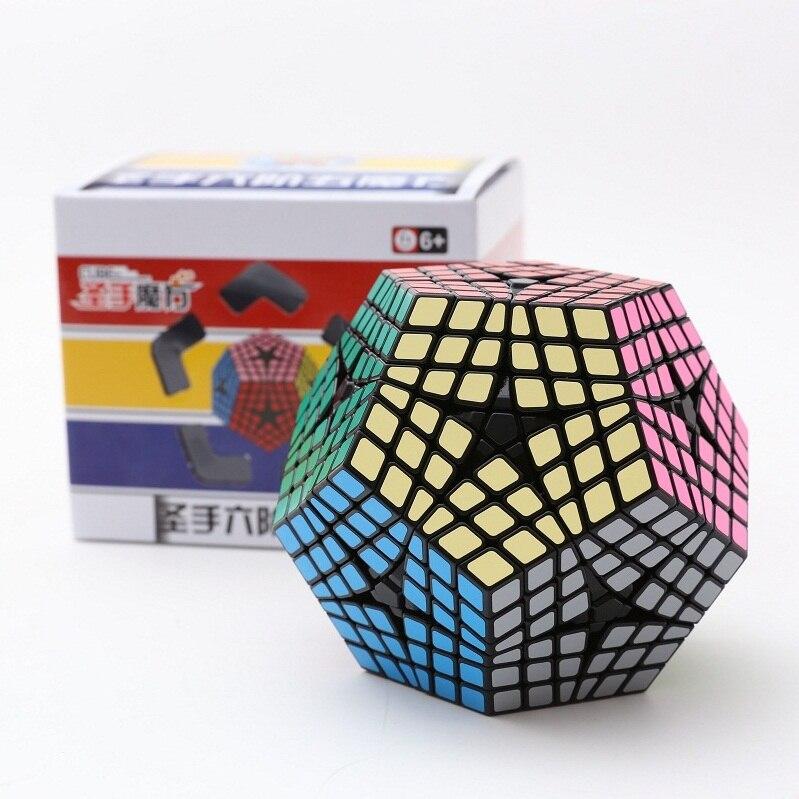 Le plus récent Cube Shengshou Elite Kilominx 6x6 Dodecahedron Cube magique Puzzle d'apprentissage et éducatif Cubo magico jouet comme cadeau