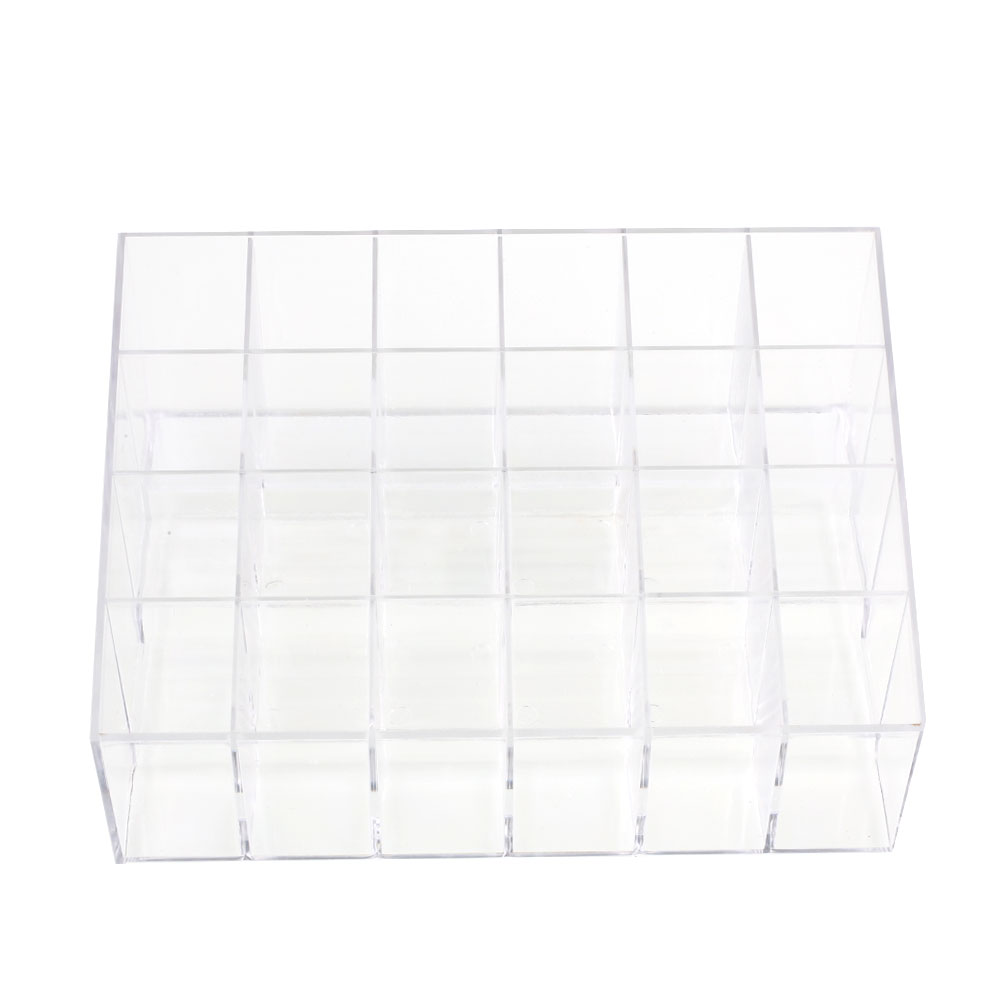 Home Multifunction Acrylic Lipstick Cosmetic 24 Stand Storage Box Organizer