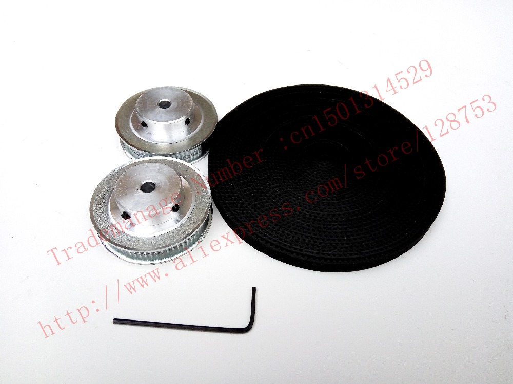 2pcs 60 teeth GT2 Timing Pulley Bore13mm + 5Meters GT2 timing Belt Wide 6mm 2GT belt pulley for  3D printer free shipping free fast delivery 50t big teeth htd8m timing belt pulley