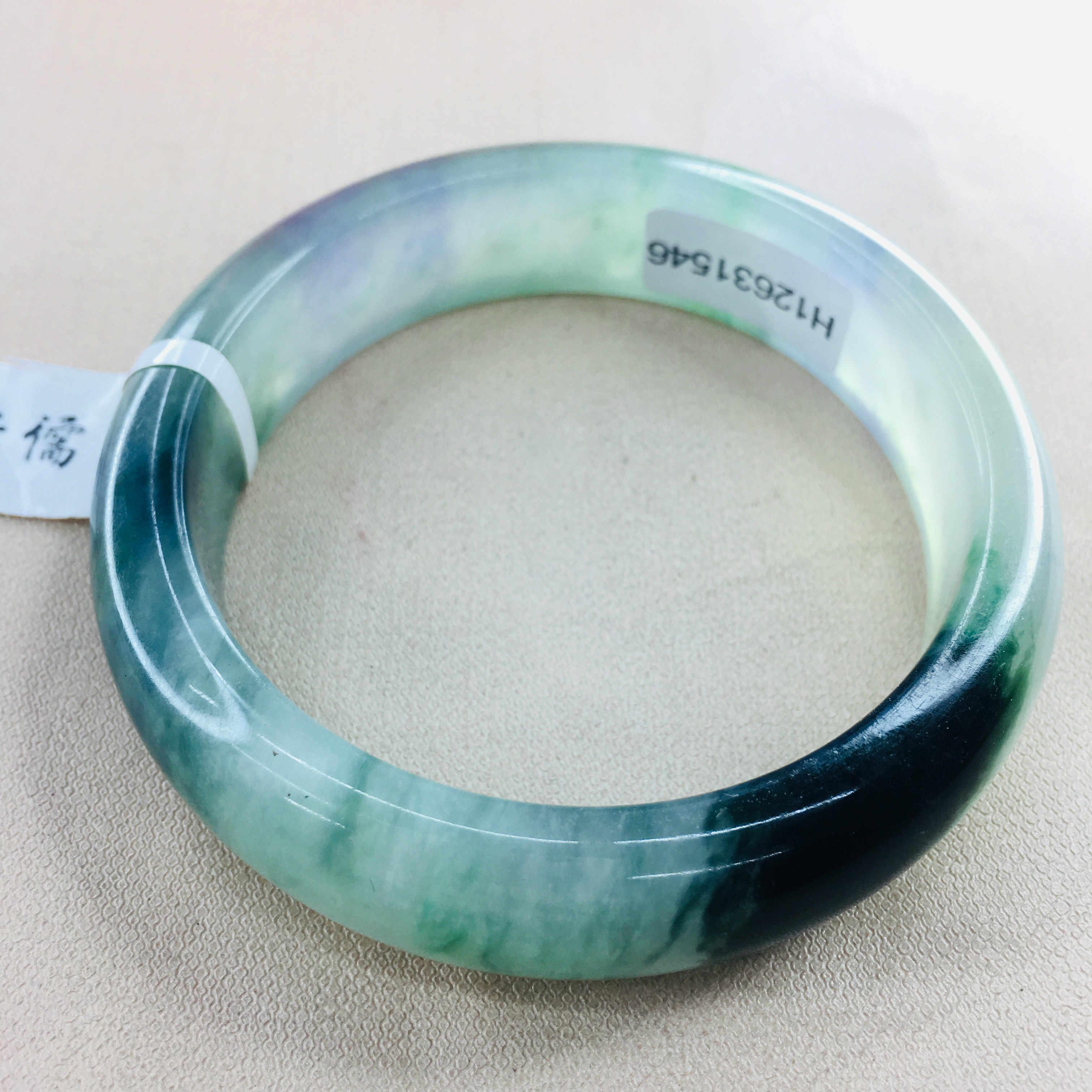 Zheru biżuteria czysty naturalny jadeit bransoletka lód naturalny dno dwukolorowe 54-62mm kobiet księżniczka bransoletka prezent wysłać certyfikat