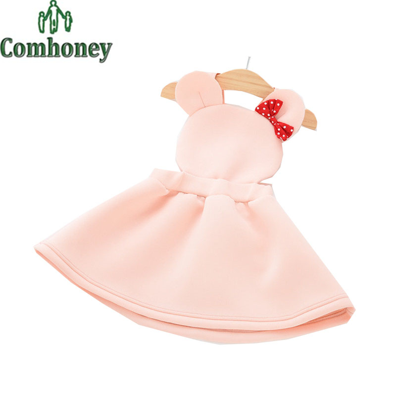 Minnie Mouse Dress for Girls Toddler Baby Bow Tutu Sleeveless Overall Princess Wedding Birthday Party Black Pink Kid Clothing