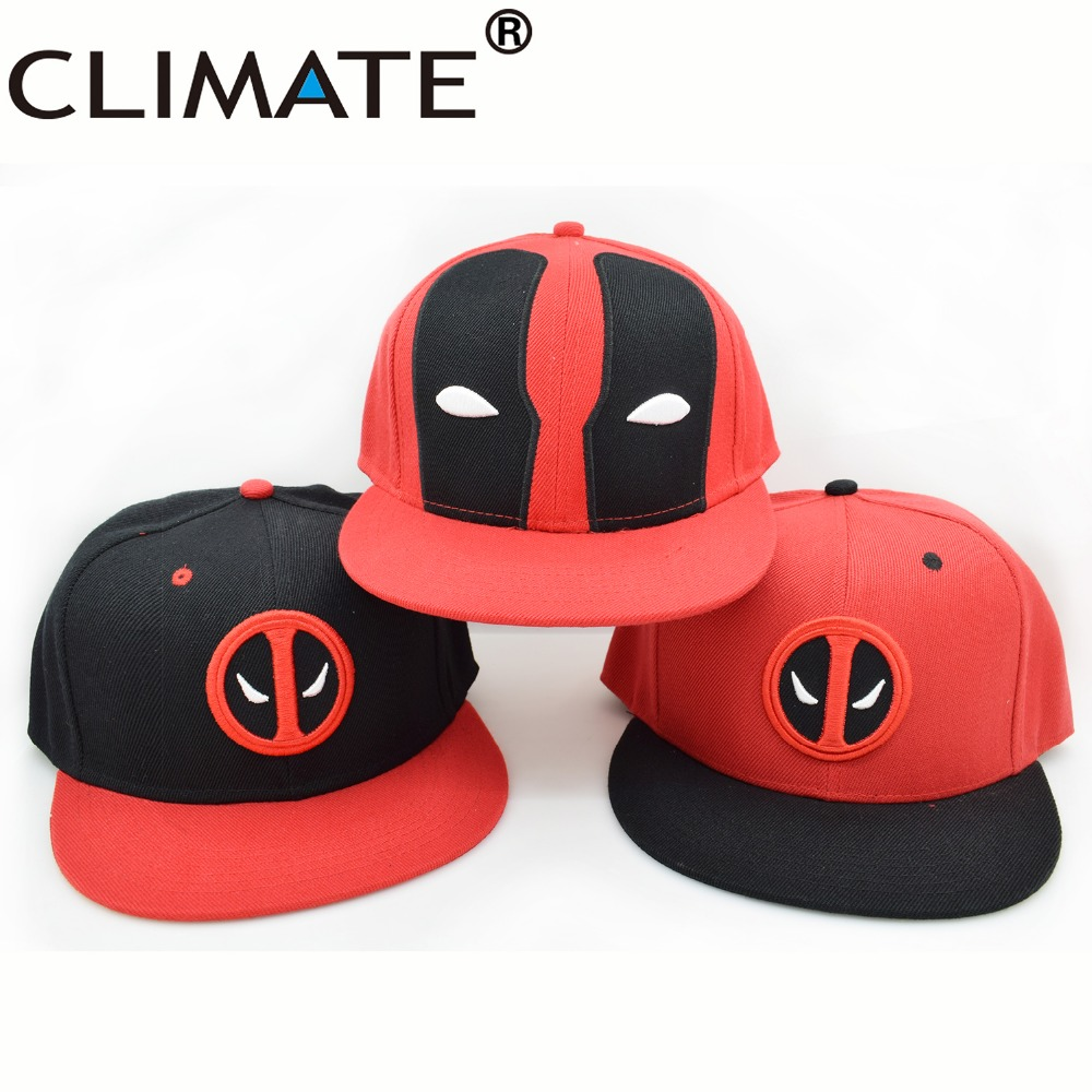 Climate Hot Selling Deadpool Heros 3D Embroidery Snapback Caps New Mutants Hip Hop Hat For Men Women Winter Spring Summer Gorros