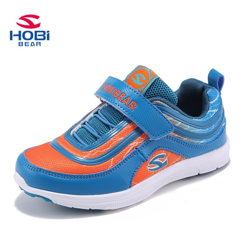 Hobibear Boys Girls Kids Outdoor Sport Shoes Pink Blue Green Spring Autumn Breathable Child Sneakers AS3001 hobibear classic sport kids shoes girls school sneakers fashion active shoes for boys trainers all season 26 37