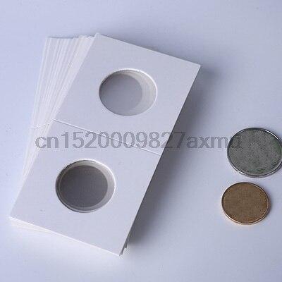100 packs 50 개/갑 20.5mm 25mm 동전 홀더 보관 클립 케이스 종이 봉투 플립 2x2 플립 종이 보드 동전 수집 홈 장식-에서사진앨범부터 홈 & 가든 의  그룹 1