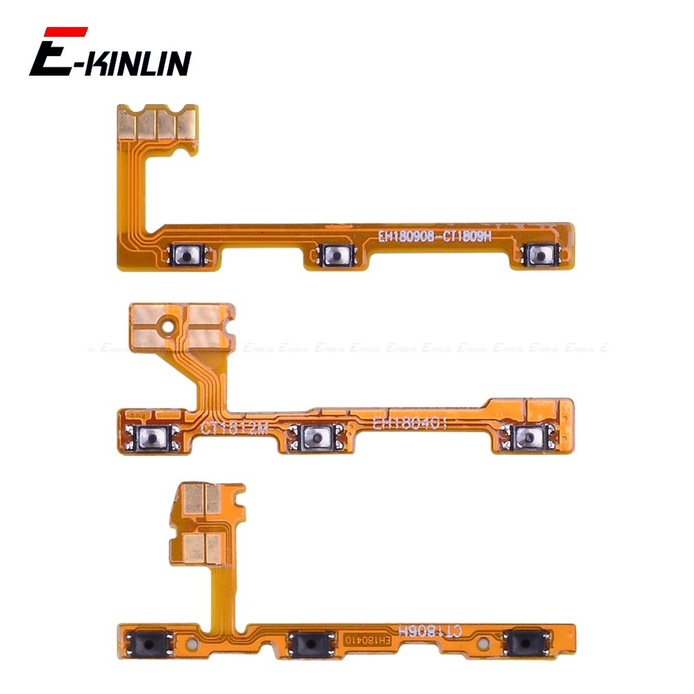 Switch Power ON OFF Key Mute Silent Volume Button Ribbon Flex Cable For HuaWei Honor View 10 Mate 20 X P20 Pro Lite 8X Parts