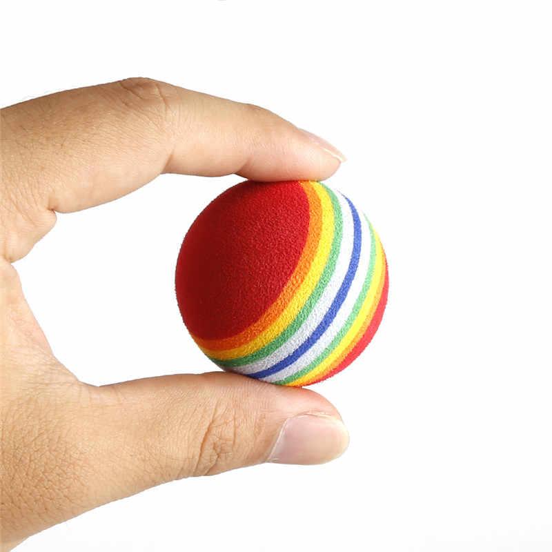 20 шт. 38 мм EVA пена мягкая радужная полоса мячи для гольфа качели для начинающих тренировки
